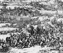 De verovering van Makassar door Cornelis Speelman, 1667