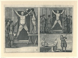 Martelingen van Engelse handelaren op Ambon in 1622, gebruikt als anti-Nederlandse propaganda in de Engels-Nederlandse oorlogen