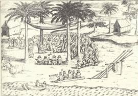 Nederlandse handelaren en Hituese hoofden beloven elkaar wederzijdse hulp, 4 maart 1599 (bron: Schipvaerd op oost-Indien ghedaen in den jare 1598)