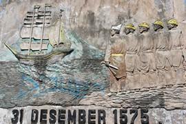 Monument ter herinnering aan de strijd tegen de Portugezen, Ternate (foto: JSS)