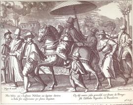 Portugezen in Goa, het centrum van de Portugese macht in Azië (Bron: Itinerario en Icones, Jan Huygen van Linschoten)