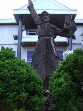 Standbeeld van Fransiscus Xaverius in Ambon (foto: Wim Manuhutu)
