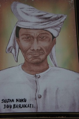 Hedendaags geschilderd portret van Nuku (foto: JSS)