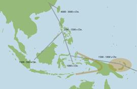 Austronesische migratie (bron: LSEM)